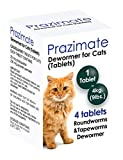 Prazimate Roundworm and Tapeworm Dewormer for Cats 4 Tablets (4 Tablets)