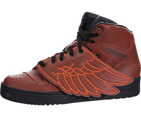 Jeremy Scott Wings BBall Mens in Red/Red by Adidas, - Jeremy Scott