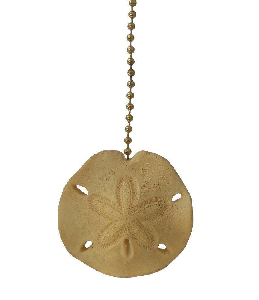 Beach sea shell SAND DOLLAR ceiling fan Pull light chain