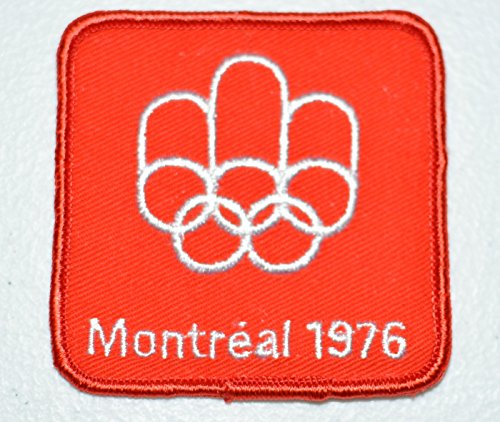 Montreal 1976 Olympic Games (Montreal 1976 Summer Olympic Games Red Souvenir Crest Sew-on Embroidered Applique)