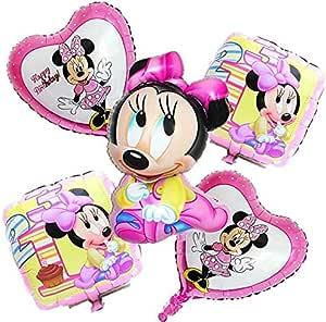 5pcs/set Happy Birthday Balloons Minnie Decoration - high quality