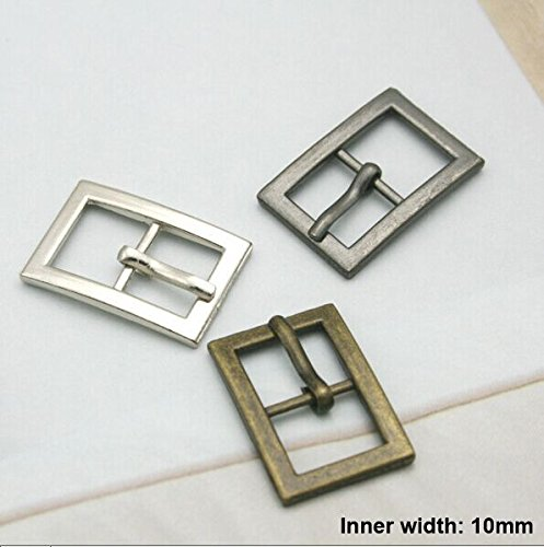 Buckes - Wholesale 50pcs/lot Metal 10mm Shoe Buckle with pin Alloy Belt Buckle high Polished Buckle bk-038 - (Size: Mixed Color) from Lysee