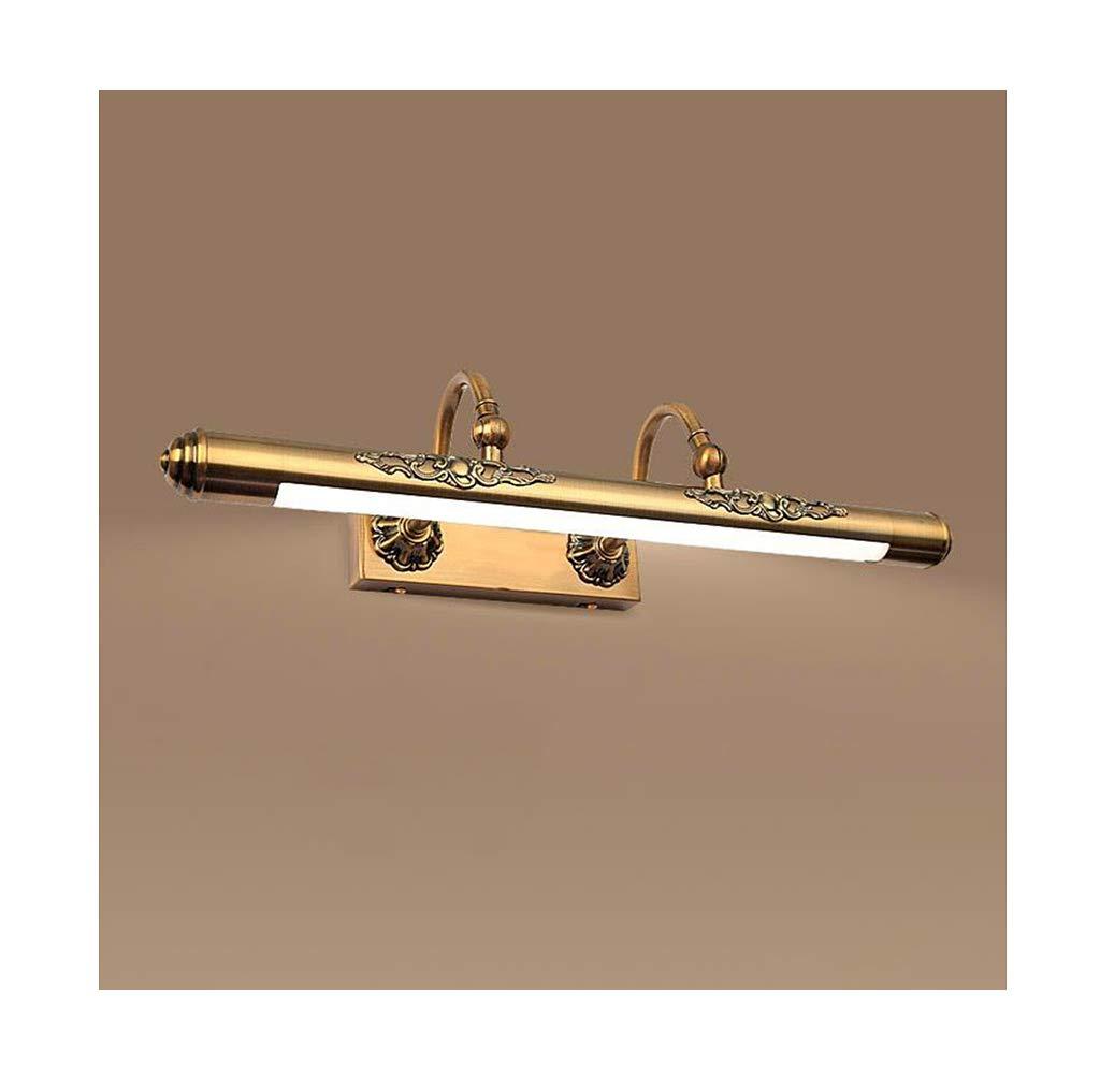 &Spiegelleuchte Spiegel Frontleuchte Europäische Klassische Bronze LED Einstellbare Winkel Badezimmer Wandleuchte (Größe   60cm)