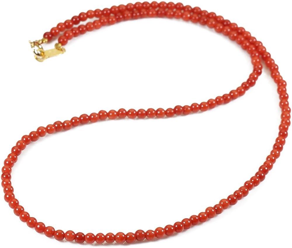 地中海紅珊瑚 ネックレス シルバー(無染色)(サルジ・胡渡)コーラル SANSUI Amazon