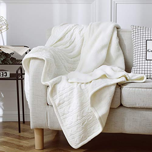 (Premium Knit Sherpa Throw Blanket - 51