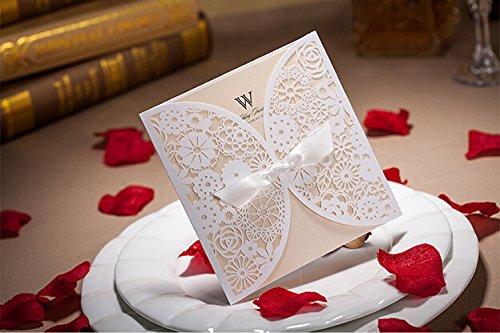 Joinwin® 12 Laser Cut Wedding Invitations Paper Cards - Convites De Casamento