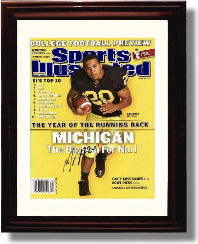 Framed Michigan Wolverines - Mike Hart