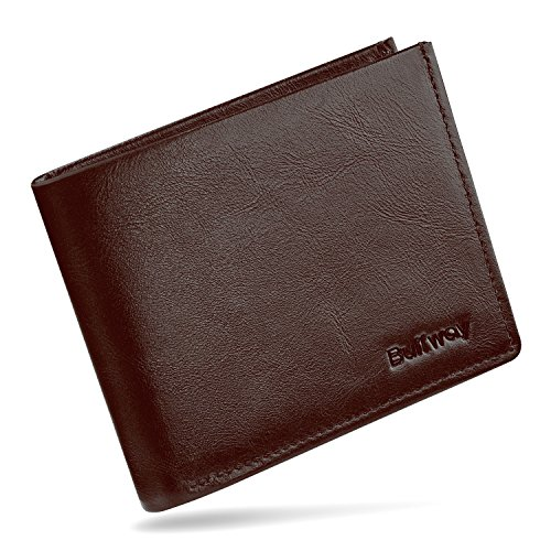 Hidden Pocket Wallet (Buffway Genuine Leather Slim Minimalist Bifold Wallet for Men & Women – RFID Blocking Sleeves with Clear ID Window, Multiple Card Slots, Cash Pocket & Hidden Compartment)