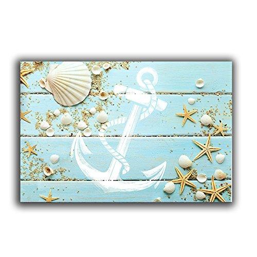 """Beach-Themed Nautical Doormats (18""""x30"""" ) - Seashell, Starfish, Anchor Indoor/Outdoor Mat Rug"""