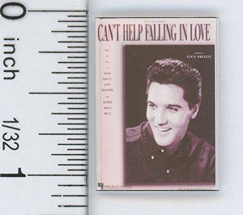 Cindi's Minis Dollhouse Miniature 1:12 Scale Elvis Presley Sheet Music Book