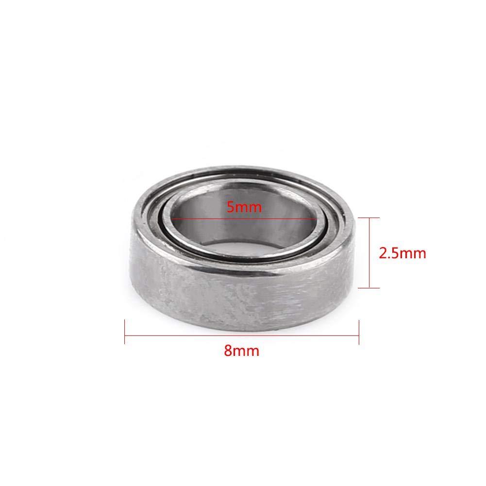 Electrodom/ésticos Aufee Cojinete de Bolas 10pcs MR85ZZ Cojinetes de Bolas 6001-2RS Uso de Acero para m/áquinas industriales