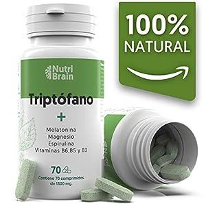 Tryptophane Naturel avec Mélatonine et Spiruline | 70 Comprimés | Formule naturelle pour améliorer le sommeil, réduire l…