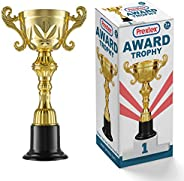 Prextex 10-Inch Gold Cup Award Trophy for Trophy Awards and Party Celebrations, Award Ceremony and Appreciatio