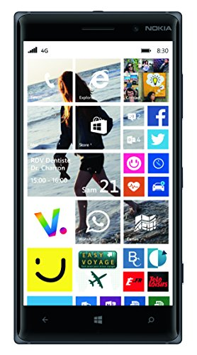 "Nokia LUMIA 830 BLACK 16GB 5"" INCHES FACTORY UNLOCKED LTE..."