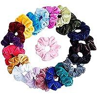 20 Pieces Minglife Hair Scrunchies Velvet Elastics Bands