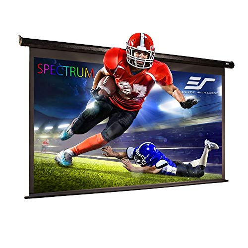 Elite Screens Spectrum, 180-inch Diag 16:9, Electric Motorized 4K/8K Ready Drop Down Projector Screen, ELECTRIC180H