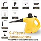ENSTVER Handheld Pressurized Steam Cleaner with 9-Piece Accessory Set -Chemical-Free Steam Cleaning