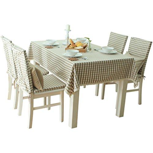 1  140200CM Nappe de cuisine Nappe Rectangulaire, Riz Rural Tissu en treillis Table Tissu Table basse Petite table ronde Nappe (Couleur   1 , taille   140  200CM)