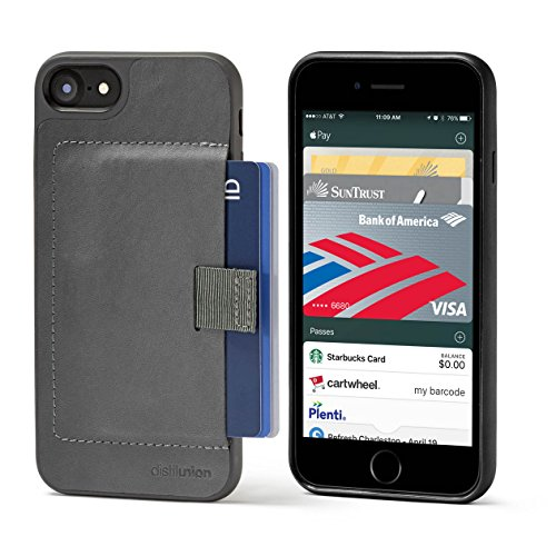 - Distil Union Wally Wallet Case for iPhone 7 / iPhone 8 - Genuine Leather Protective Case (Slate)