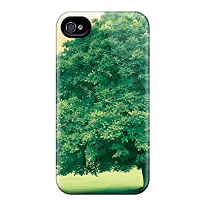 Quality Mwaerke Case Cover With A Happy Tree In Irel Nice Appearance Compatible With Iphone 4/4s