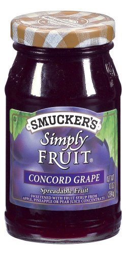 Smuckers Simply Fruit - Smucker's  Simply Fruit  Concord Grape Spreadable Fruit, 10-Ounce (Pack of 6)