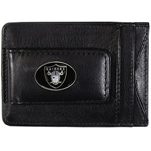 - NFL Oakland Raiders Leather Money Clip Cardholder