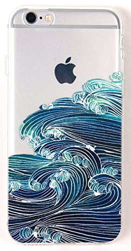 Wave Silicone (YogaCase InTrends, Compatible With IPhone 5 / 5s Case, Silicone Back Protective Cover (Japanese Wave))