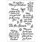 Stampendous Rubber Perfectly Clear Stamps 4-inch x 6-inch Sheet-Tis The Season