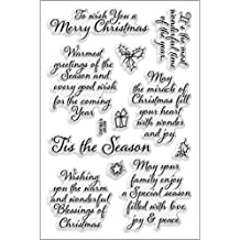 Stampendous SSC1147  Perfectly Clear Stamp, 4 by 6-Inch, Tis Season