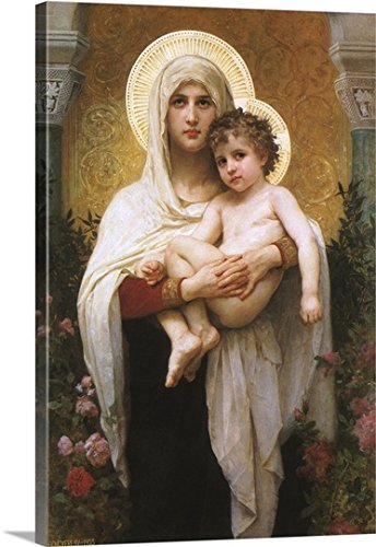 Adolphe-William Bouguereau Gallery-Wrapped Canvas entitled Madonna Holding Child by greatBIGcanvas