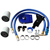BLACKHORSE-RACING Coolant Filtration Kit 2 Filters for 2003 2004 2005 2006 2007 Ford V8 6.0L Powerstroke Diesel