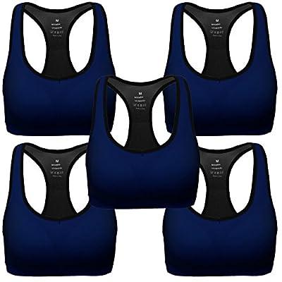 Mirity Women Racerback Sports Bras - High Impact Workout Gym Activewear Bra