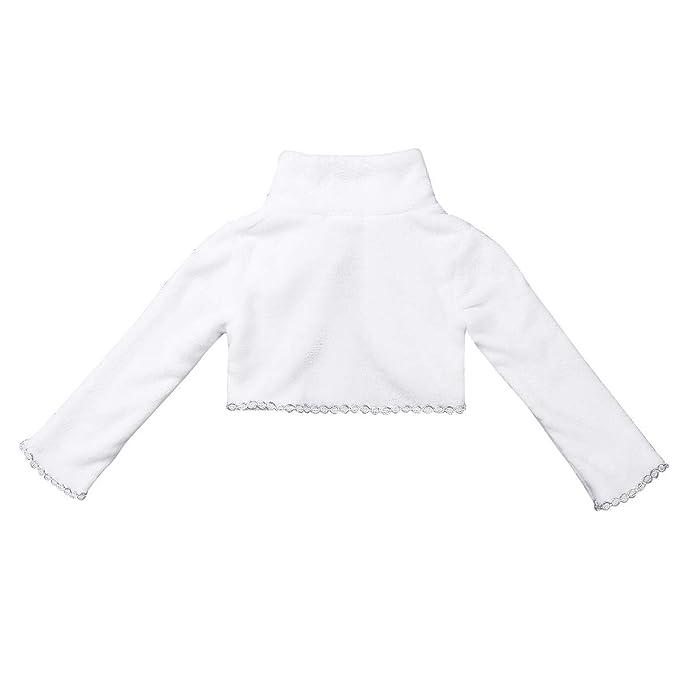 Amazon.com: CHICTRY Little Girls Princess Winter Dress up Long Sleeve Faux Fur Snowflakes Bolero Jacket Coat Wraps Shawl: Clothing