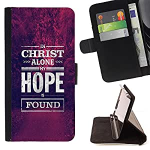 For Samsung Galaxy S6 active/G870A/G890A (Not Fit S6) Christ Jesus Christian Hope Motivational Style PU Leather Case Wallet Flip Stand Flap Closure Cover