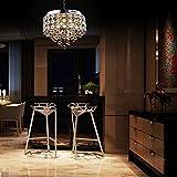 LightInTheBox 4 Lights Sunflower K9 Transparent Crystal Chandelier Pendent Light Ceiling Lamp Lighting Fixture for Dining Room, Bedroom, Living Room, Hallway