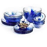 Bormioli Rocco Murano Dinner Plates, Blue, Set of 12