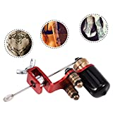 Semme Tattoo Machine, Professional liner Shader Rotary Tattoo Strong Motor Gun Motor Film Coils Frame For Shader Supply Equipment(Red)