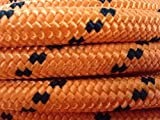 1/2'' By 200' Arborist Rigging Rope, Double Braided Polyester Orange/black