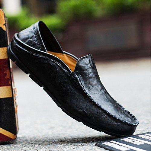 Pelle Scarpe Guida EU Sunny Scarpe Penny da Holiday Casual Slip 38 Eleganti On Classic Nero Mocassini 46 da Loafers Uomo FZaaSwE8qx