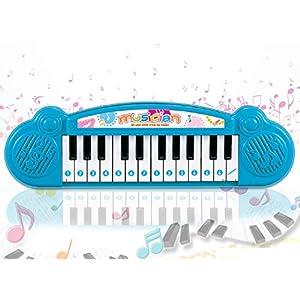 Popsugar – THPI6614AB Mini Musical Keyboard with 24 Keys for Kids, Blue