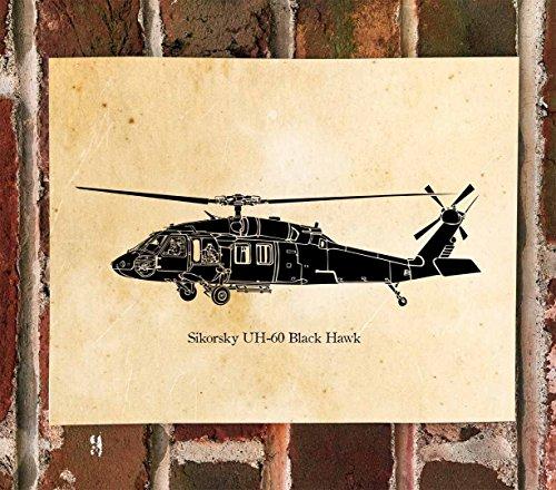 KillerBeeMoto: Sikorsky UH-60 Black Hawk Helicopter Print -