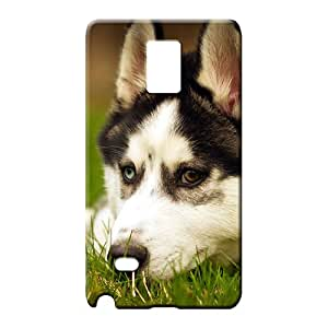 samsung note 4 covers Plastic Protective Stylish Cases mobile phone skins husky dog resting