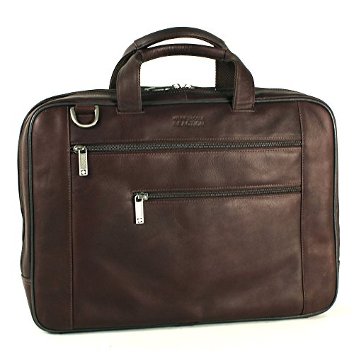 Kenneth Cole Reaction 17'' Leather Laptop Briefcase in Brown by Kenneth Cole