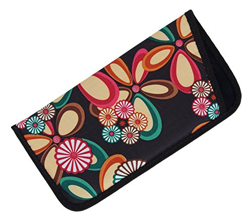 Soft Slip In Eyeglass Case In Floral Heart Daisy Fabric Variety