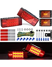 Kohree 2019 New 12V Led Trailer Light Kit, Boat Submersible Trailer Tail Light Utility Led Trailer Lights and Wiring Kit for Camper Truck RV Marine Snowmobile Under 80 Inch, IP68 Waterproof