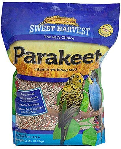 Sweet Harvest Parakeet Bird Food, 4 lbs Bag - Seed Mix for Parakeets ()