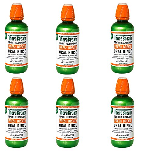 Dr. Katz TheraBreath Oral Rinse, Mild Mint, 16-Ounce Bottles (Pack of 6)