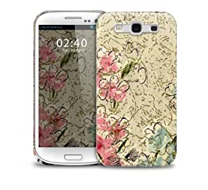 vintage Blue And Pink Flowers Samsung Galaxy S3 GS3 protective phone case