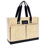 SCOUT Uptown Girl Medium Multi-Pocket Tote Bag, Water Resistant, Zips Closed, Khaki Onassis