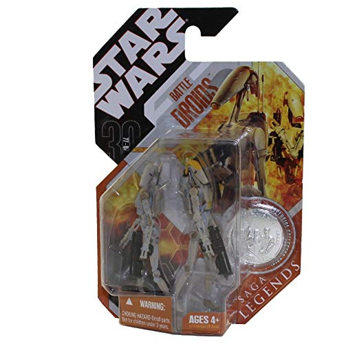 Star Wras Saga Legends Battle Droids Variant Gray and Tan Paint by Hasbro